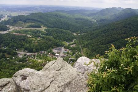 overlook: Pinnacle Overlook at Cumberland Gap Stock Photo