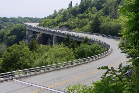 Linn Cove Viaduct in the Summer in North Carolina photo
