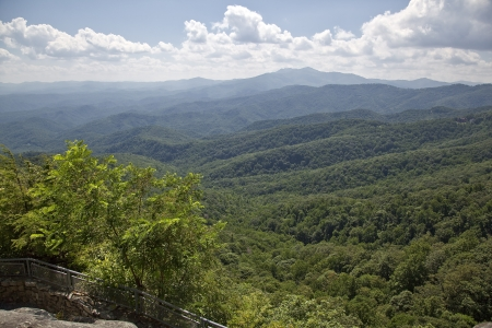 North Carolina Mountains view from Blowing Rock