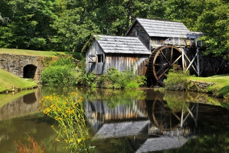 Mabry Mill in Virginia Mountains