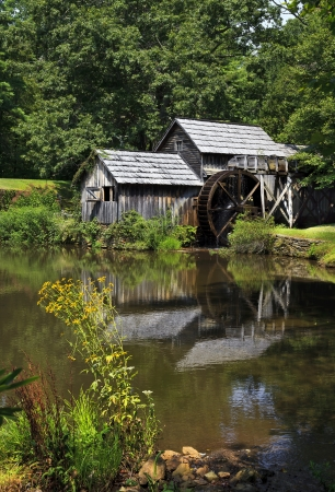 Mabry Mill on the Blue Ridge Parkway in Virginia Stok Fotoğraf