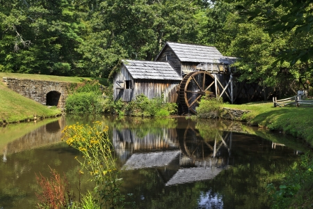 old grist mill: Mabry Mill