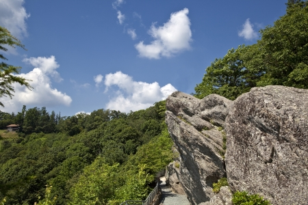 The Blowing Rock in North Carolina Stock Photo