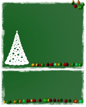 Christmas Tree Ornaments Background Paper photo