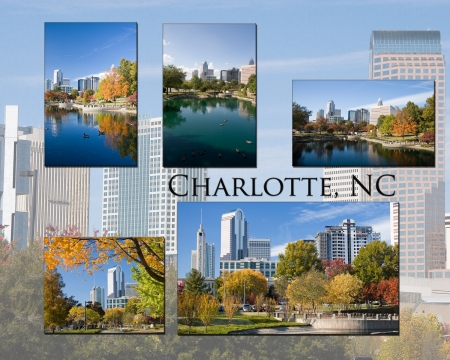 charlotte: Charlotte, North Carolina Collage Stock Photo