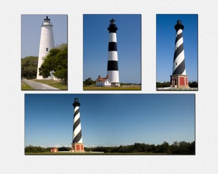 North Carolina Lighthouses Collage