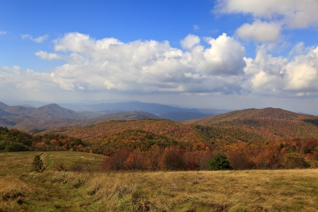 max: View From Max Patch Bald Mountain in the Autumn Season