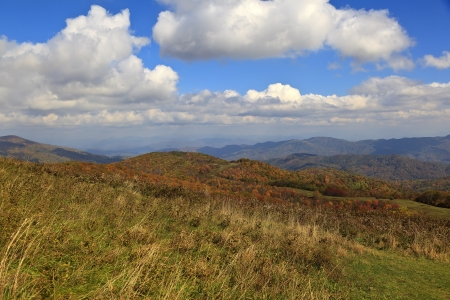 max: View From Max Patch Bald Mountain in the Fall Stock Photo