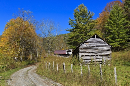 Old Barns in the Mountains