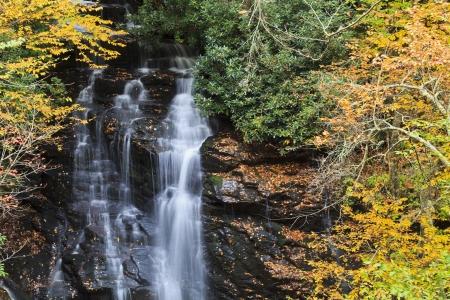 cherokee: Soco Falls near Cherokee, North Carolina in the fall