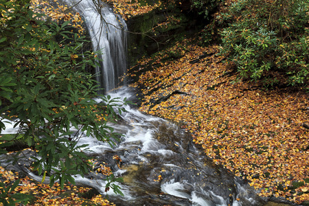 Merry Falls in North Carolina near the Dupont State Forest and Brevard Stock Photo