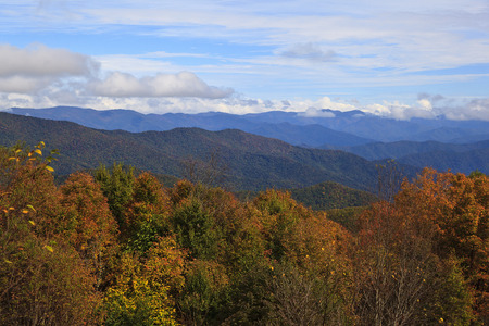 Blue Ridge Mountains in the Fall Stock Photo