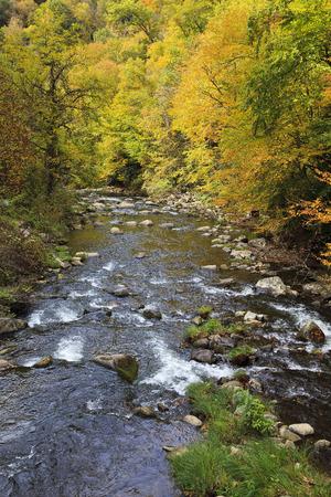 Nantahala River in North Carolina in the Fall