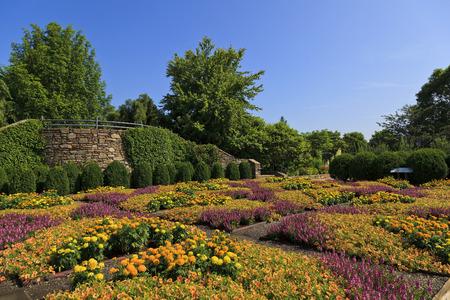 ブルーリッジ ・ パークウェイの近くアシュビルのノースカロライナ植物園でキルト ガーデン。 写真素材