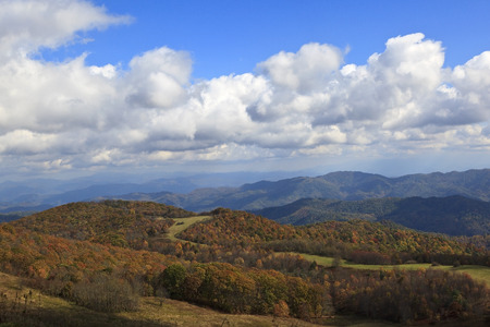 nc: NC Mountains View From Max Patch Stock Photo