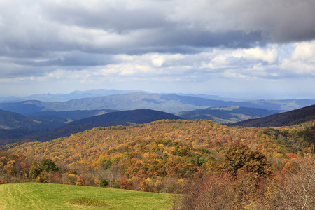 nc: View from Max Patch Bald in NC Stock Photo