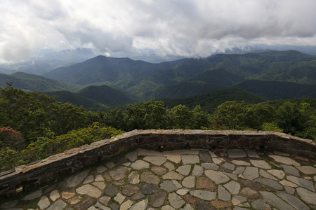 the franklin: View from Wayah Bald in Franklin North Carolina Stock Photo