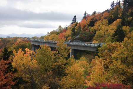 nc: Linn Cove Viaduct in the Fall in NC