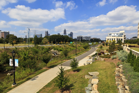 Charlotte's Midtown Park in late summer