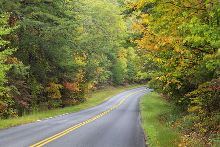great smoky mountains: Foothills Parkway in the Great Smoky Mountains Stock Photo