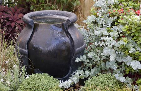 statuary garden: Water Fountain in a Garden