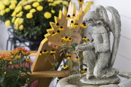 statuary garden: Angel Water Fountain