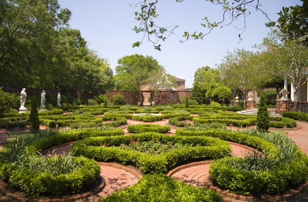 statuary garden: Tryon Palace Gardens in New Bern, North Carolina