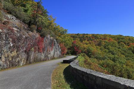 north ridge: Blue Ridge Parkway Road in North Carolina