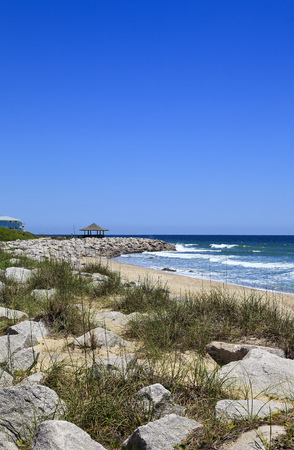Kure Beach at the Historic Site of Fort Fisher in North Carolina