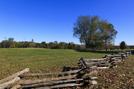 Split Rail Fence and Field at Appomattox Court House National Park