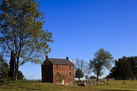 Appomattox County Jail in Virginia. Built 1867. On the site of Appomattox Court House National Historic Park Stock Photo