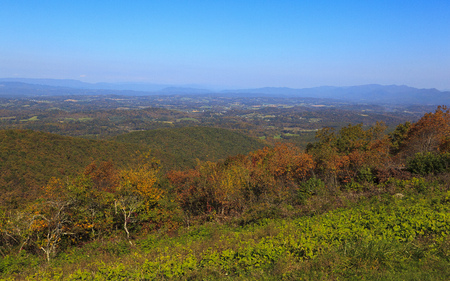 The Great Valley in Virginia from the Blue Ridge Parkway in the fall