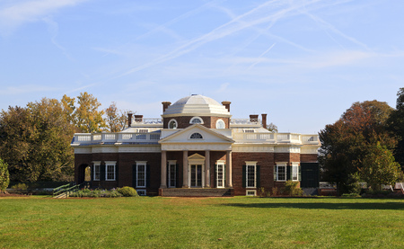 Monticello, Thomas Jefferson's home in Virginia, from the West Lawn, built 1772 Reklamní fotografie