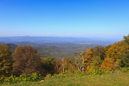 Virginia Mountains in the Fall Stock Photo