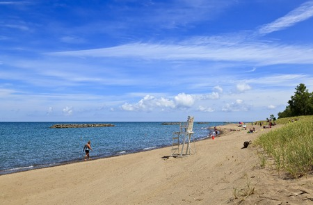 Presque Isle State Park Beach in Erie Pennsylvania