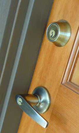 lever: Contempoary lever door handle and deadbolt lock