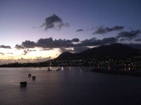 Cloudy sunset over St. Kitts