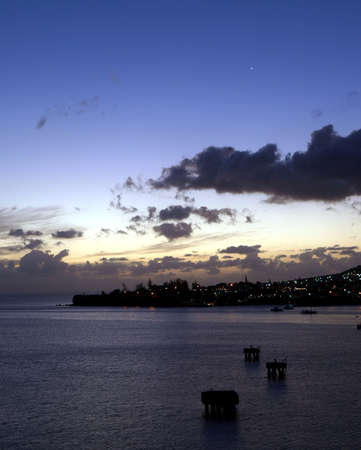 View of Venus in the night sky over St. Kitts