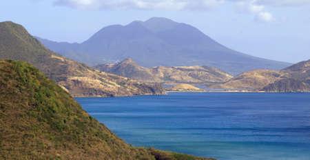 View ofnthe island of Nevis across the bay from St. Kitts  Reklamní fotografie