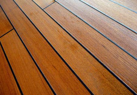 Damp and wet teak wood deck