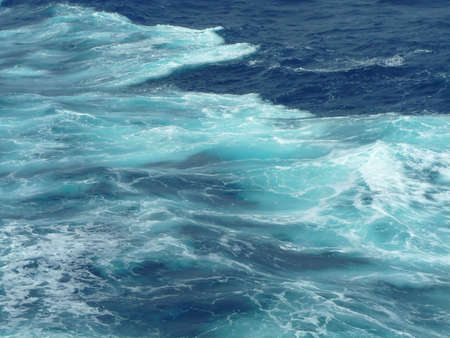 View of a ships wave wake in a turquoise sea Reklamní fotografie