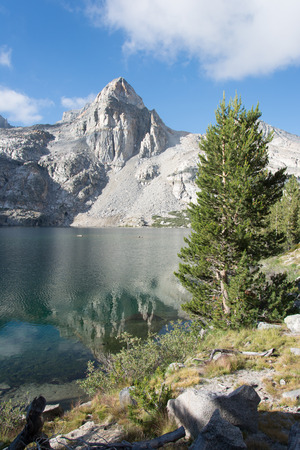 pacific crest trail: The Painted Lady at Rae Lakes in Kings Canyon National Park in the Sierras Stock Photo