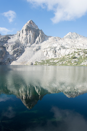 The Painted Lady at Rae Lakes in Kings Canyon National Park in the Sierras Stock Photo