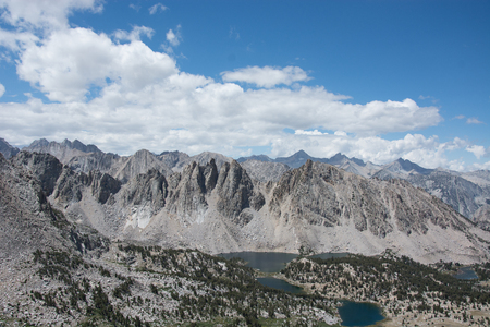 Panoramic View of Sierras from Kearsarge Pass in Kings Canyon National Park