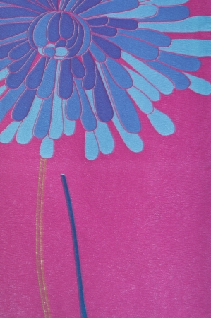 coverings: abstract blue flower and purple color wall coverings
