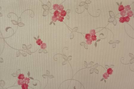 coverings: many red shade flower wall coverings pattern Stock Photo