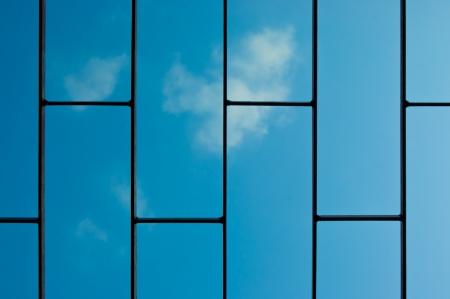 grating: old Steel grating on blue sky background