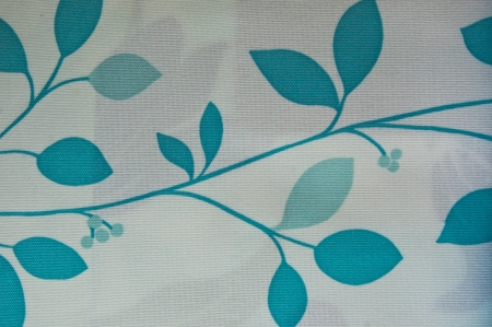 abstract blue tone flower textile wall cover photo