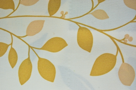 abstract yellow tone flower textile wall cover photo