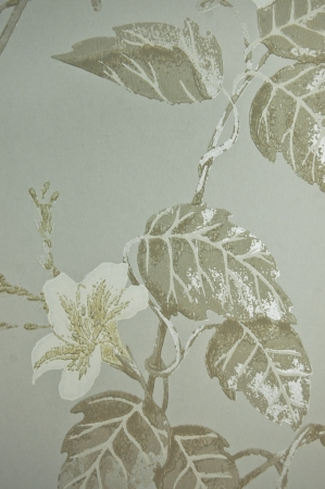 white tone flower vinyl wall cover photo